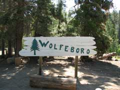 Photo of Wolfeboro sign